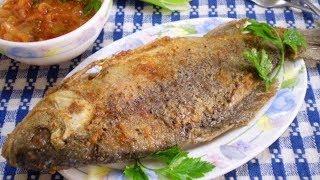 Жареная рыба в манке.Как приготовить рыбу.