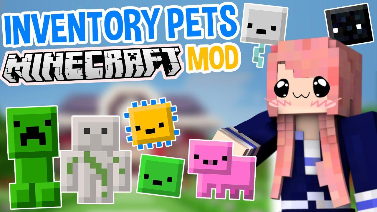 Inventory Pets | Super Cute Minecraft Mod - YouTube