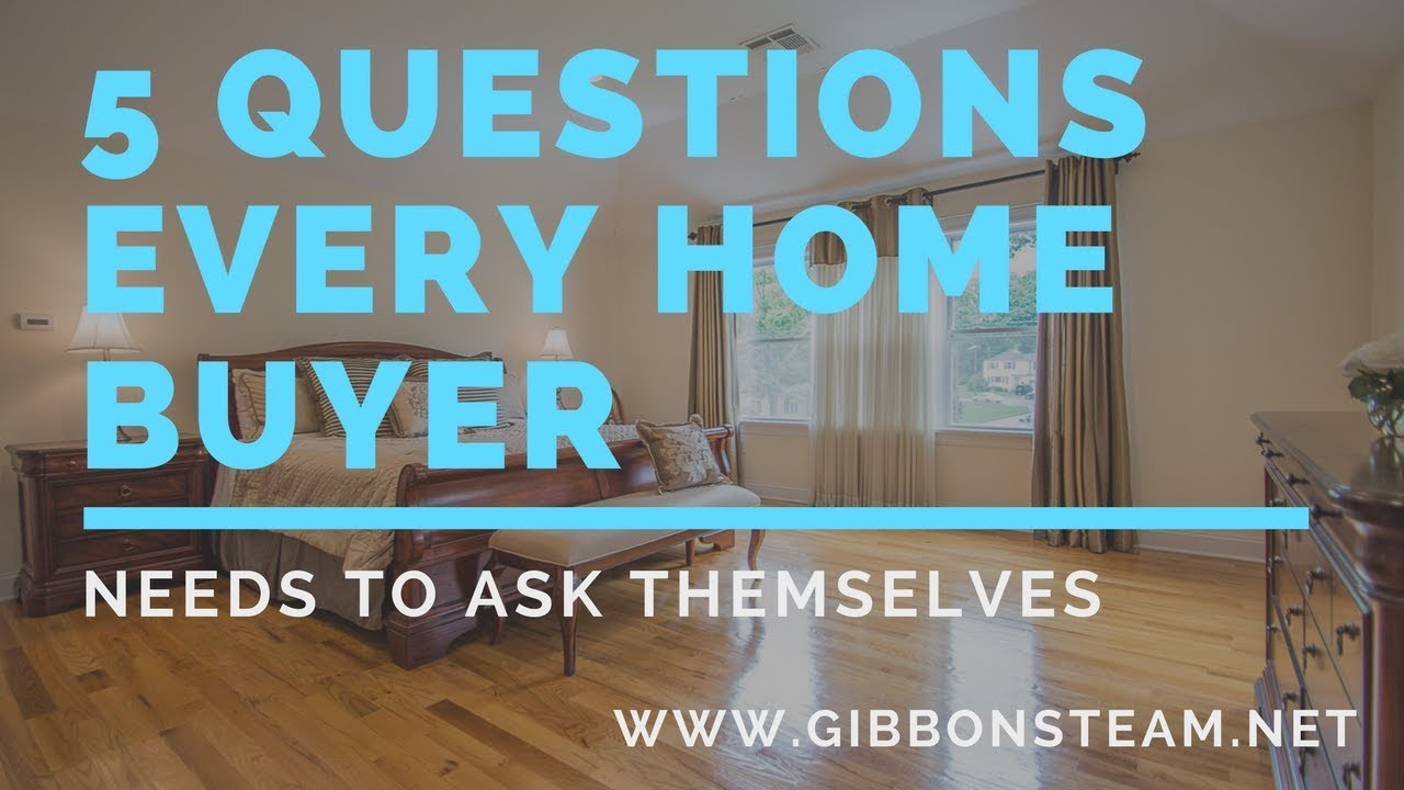 5 Questions Every Home buyer Needs to Ask Themselves