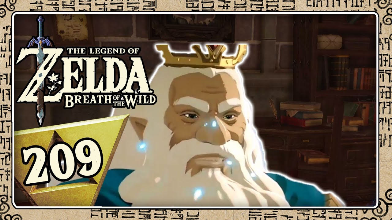 The Legend Of Zelda Breath Of The Wild Part 209 Das Studierzimmer Des Konigs In Schloss Hyrule Youtube