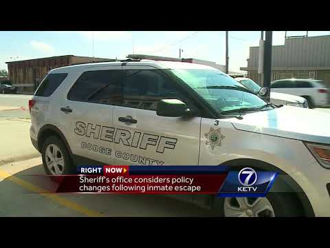 Sheriff's office considers policy changes following inmate escape