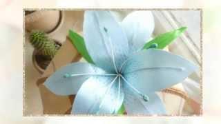 Канзаши. Как сделать цветок лилии.