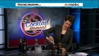 Maddow mixes a Manhattan & a Champagne Cocktail