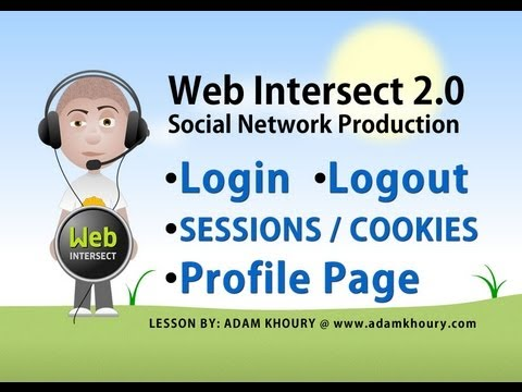 7. PHP Tutorial - Log In Form - Log Out Script - Cookies and