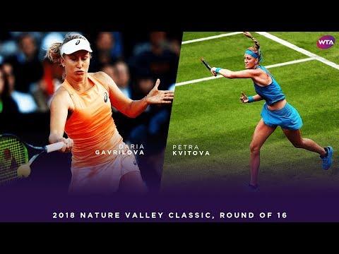 Daria Gavrilova vs. Petra Kvitova | 2018 Nature Valley Classic Round of 16 | WTA Highlights
