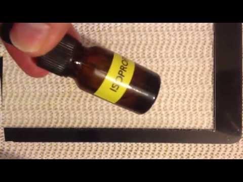 Removing UV LOCA Adhesive With Isopropyl Alcohol?