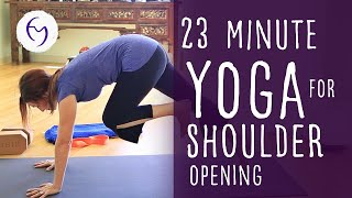 23 Minute Yoga to Prevent Shoulder Pain with Fightmaster Yoga