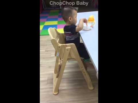 Katoji wooden high chair 日本Katoji 可摺疊全木製餐椅 by ChopChop Baby
