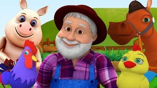 Старый Макдональд имел ферму | песня животных в россии | звук песня животных | Old Macdonald Rhyme