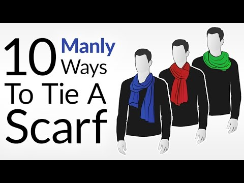 382d783ea81ef How To Tie 10 Scarf Knots For Men | Men's Scarves Tying Tutorial | Wear  Scarfs Video