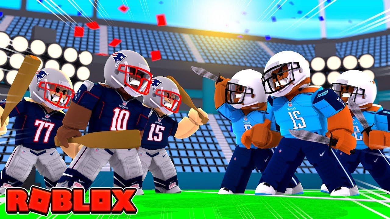Roblox Nfl Football Patriots Vs Titans Roblox Nfl 2 Youtube
