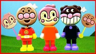 アンパンマン アニメ おもちゃ パチッと変身アンパンマン みんなの顔がペロペロチョコになっちゃった!? ペロペロチョコ Anpanman Toy thumbnail