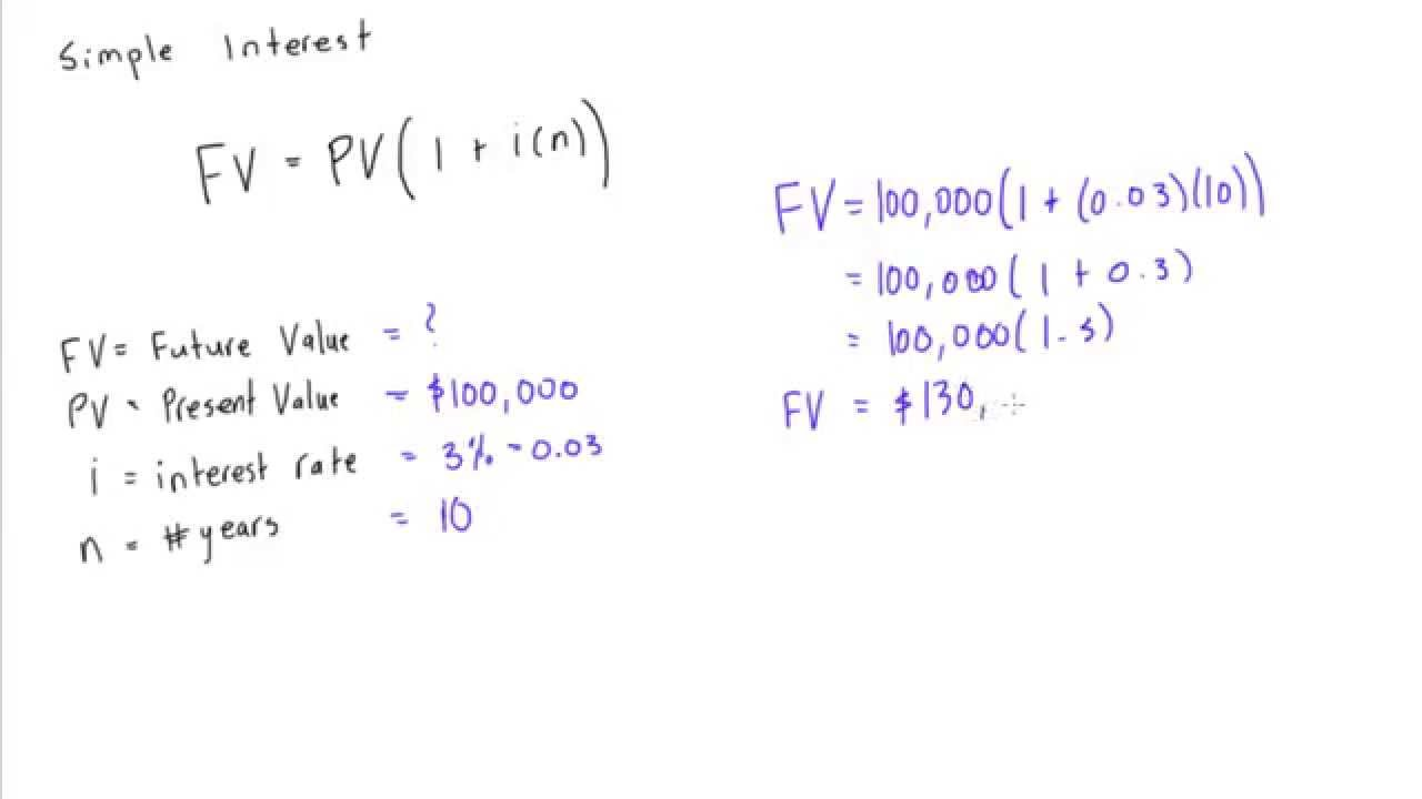 How to calculate simple interest on an investment - YouTube