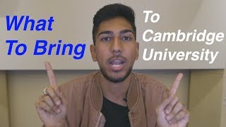 What to bring to Uni | #GoingToCambridge