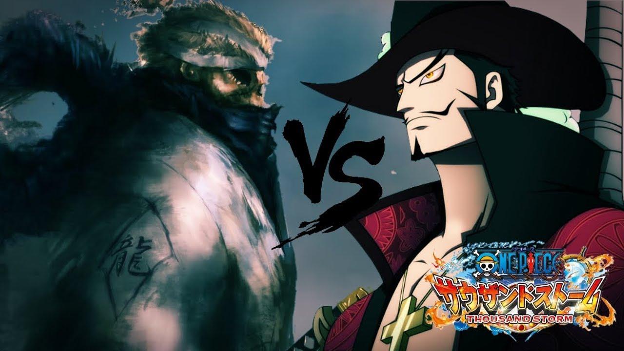 MIHAWK vs RYUMA ONE PIECE THOUSAND STORM JAP - YouTube