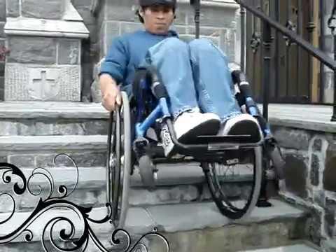 Subiendo y bajando las escaleras en mi silla de ruedas for Sillas para subir y bajar escaleras