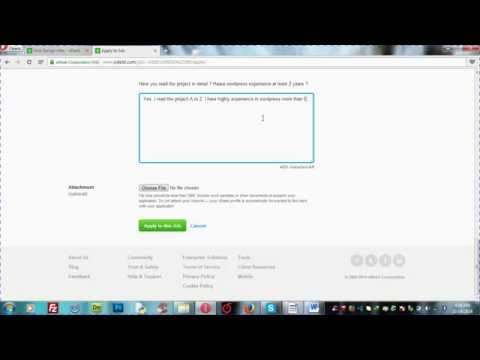 Class 8:: How to apply job in odesk and payment system in odesk