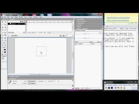Flash - Error Importing MP3 file - Solution - Covert to 16-bit WAV file using Audacity