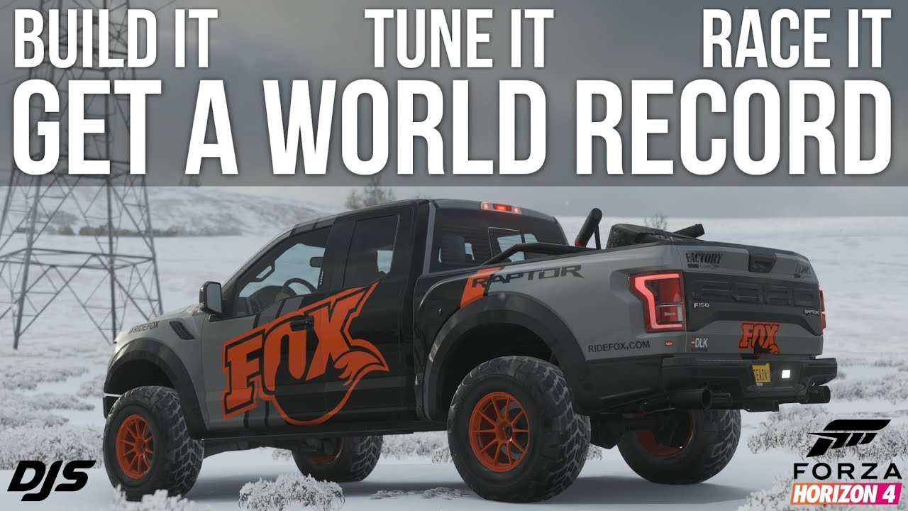 Forza Horizon 4 - 1000hp Ford Raptor - WORLD RECORD - BUILD AND TUNE!!