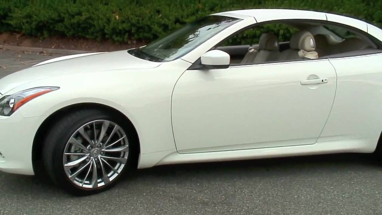 2011 Infiniti G37 Convertible Hardtop Walkaround Youtube