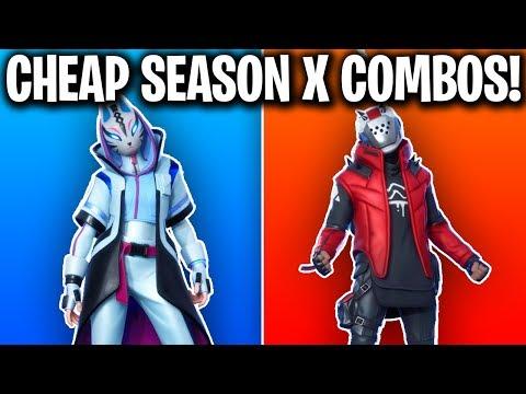 10 CHEAP SEASON X SKIN COMBOS! (FORTNITE SEASON X SKIN COMBOS!)