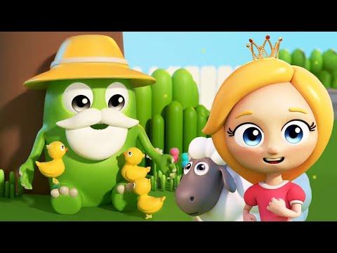 Веселые песни про животных - Мультики Сина и Ло для детей - Дедушка в деревне жил