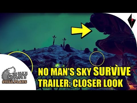 Newest No Man's Sky SURVIVE Trailer | Closer Look, Breakdown, and Discussion of Some of the Features