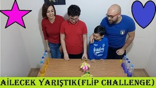 AİLECEK YARIŞTIK(WATER BOTTLE FLİP CHALLENGE)