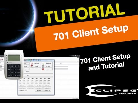 Eclipse CCTV Access Control 701 Client Software Setup