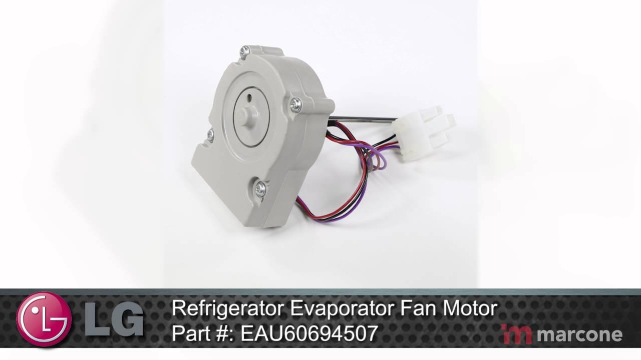 Lg Refrigerator Evaporator Fan Motor Part Eau60694507
