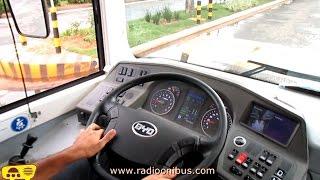 Dirigindo um Ônibus 100% elétrico BYD