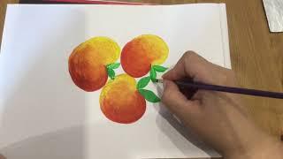 Рисуем яблочки #хохлома