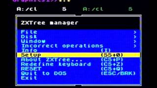 ZXTree, a disk manager for ZX Spectrum (Didaktik M) and a D80 disk drive