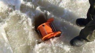 Протяжка шнура для мережі під льодом