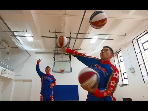 World's Best Basketball Freestylers join Harlem Globetrotters from China & Poland | Rookie Intro