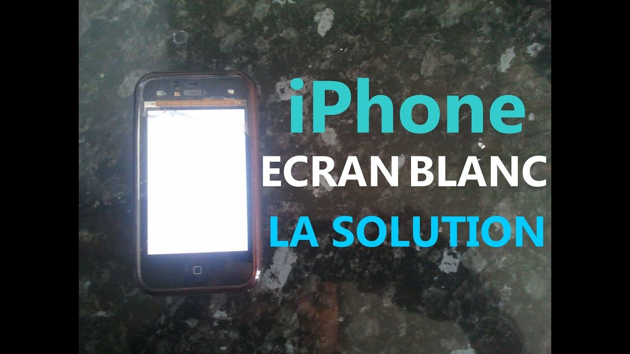 solution pour arranger l 39 cran blanc sur l 39 iphone hd youtube. Black Bedroom Furniture Sets. Home Design Ideas