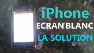 Solution pour arranger l'écran blanc sur l'iPhone (HD)