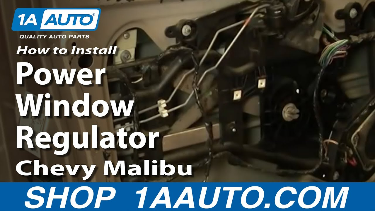 how to install replace power window regulator chevy malibu 97 03 youtube. Black Bedroom Furniture Sets. Home Design Ideas