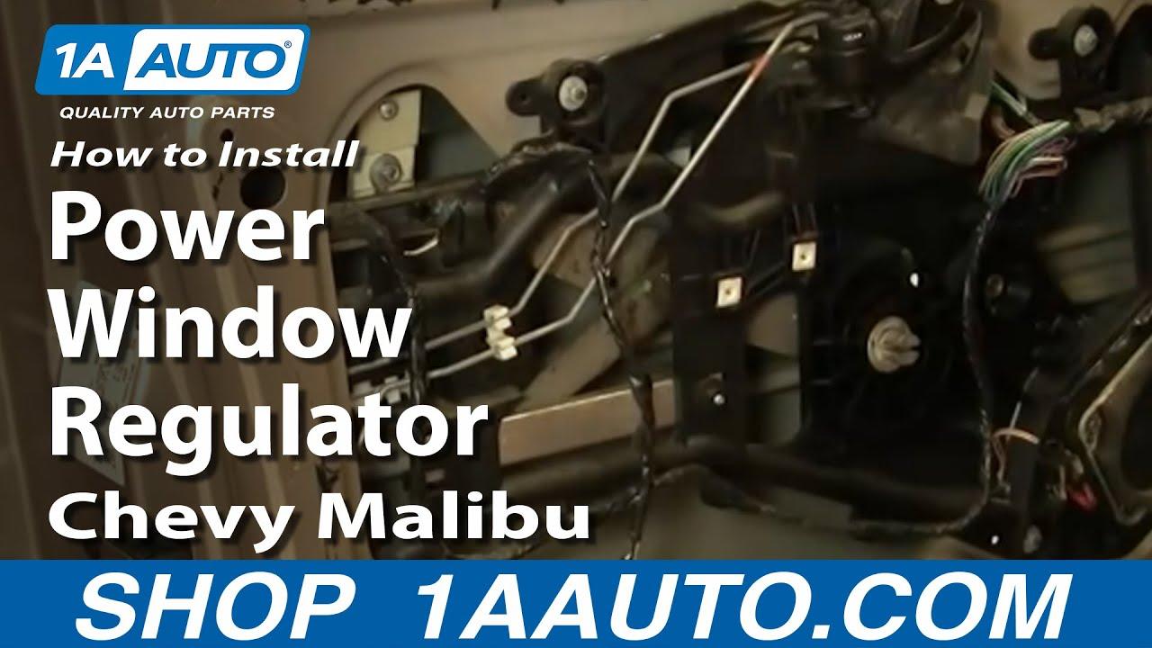 Wire Diagram For 1987 Honda Civic How To Replace Window Regulator 97 03 Chevy Malibu Youtube