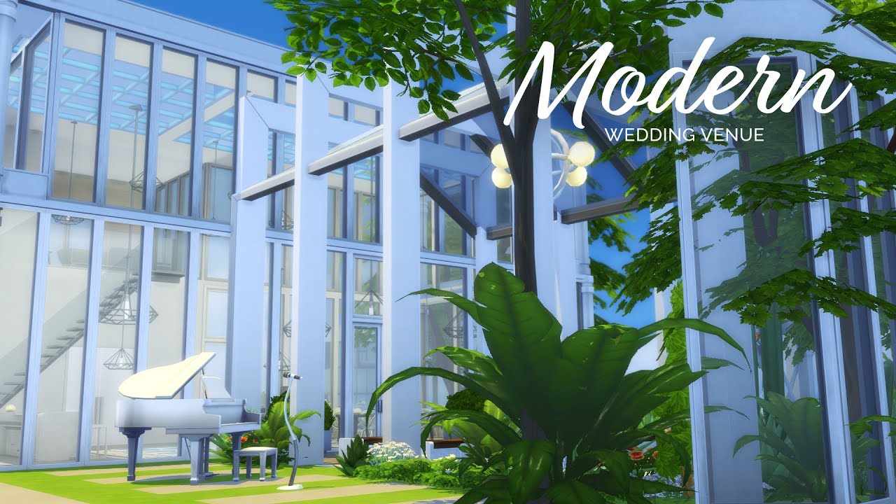 Sims 4 | Wedding Venue Series | Rooftop Modern - YouTube