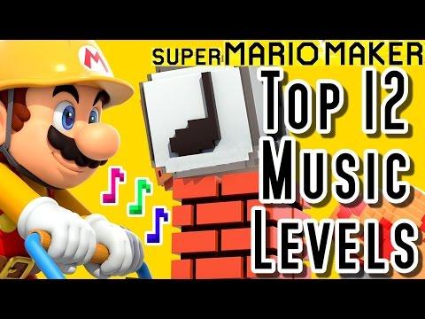 Super Mario Maker TOP 12 MUSIC LEVELS (Wii U)
