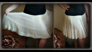 летняя юбка, вязание крючком