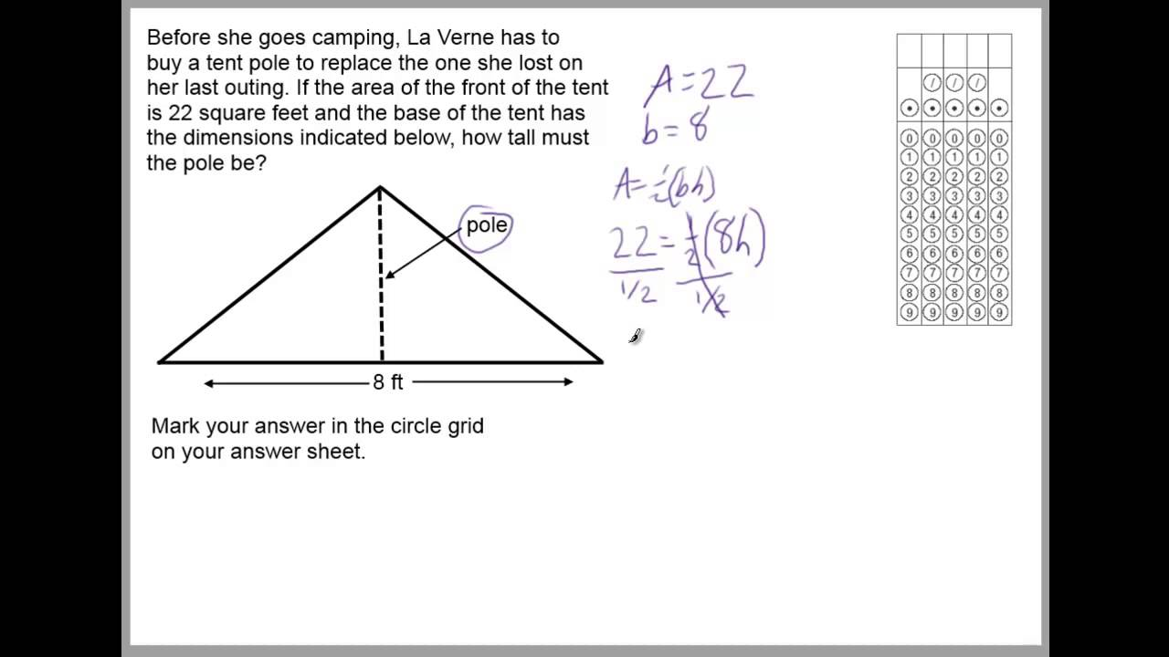 hight resolution of Word Problems - Area of Triangles (solutions