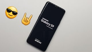 Samsung Galaxy S9 - UNBOXING & FIRST START!!! (web,youtube,game)