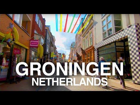 【4K】GRONINGEN, NETHERLANDS WALK - Martini Tower to Groninger Museum