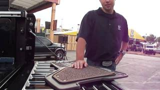 Ryan Nagode demonstrates @RamTrucks Laramie Longhorn snap-out all-weather floormats
