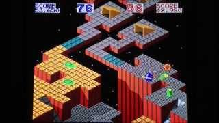 Marble Madness gameplay - Japanese Sega Mega Drive version