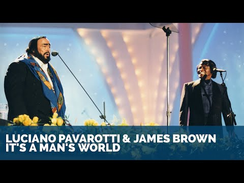 Luciano Pavarotti & James Brown  Its a mans world ᴴᴰ