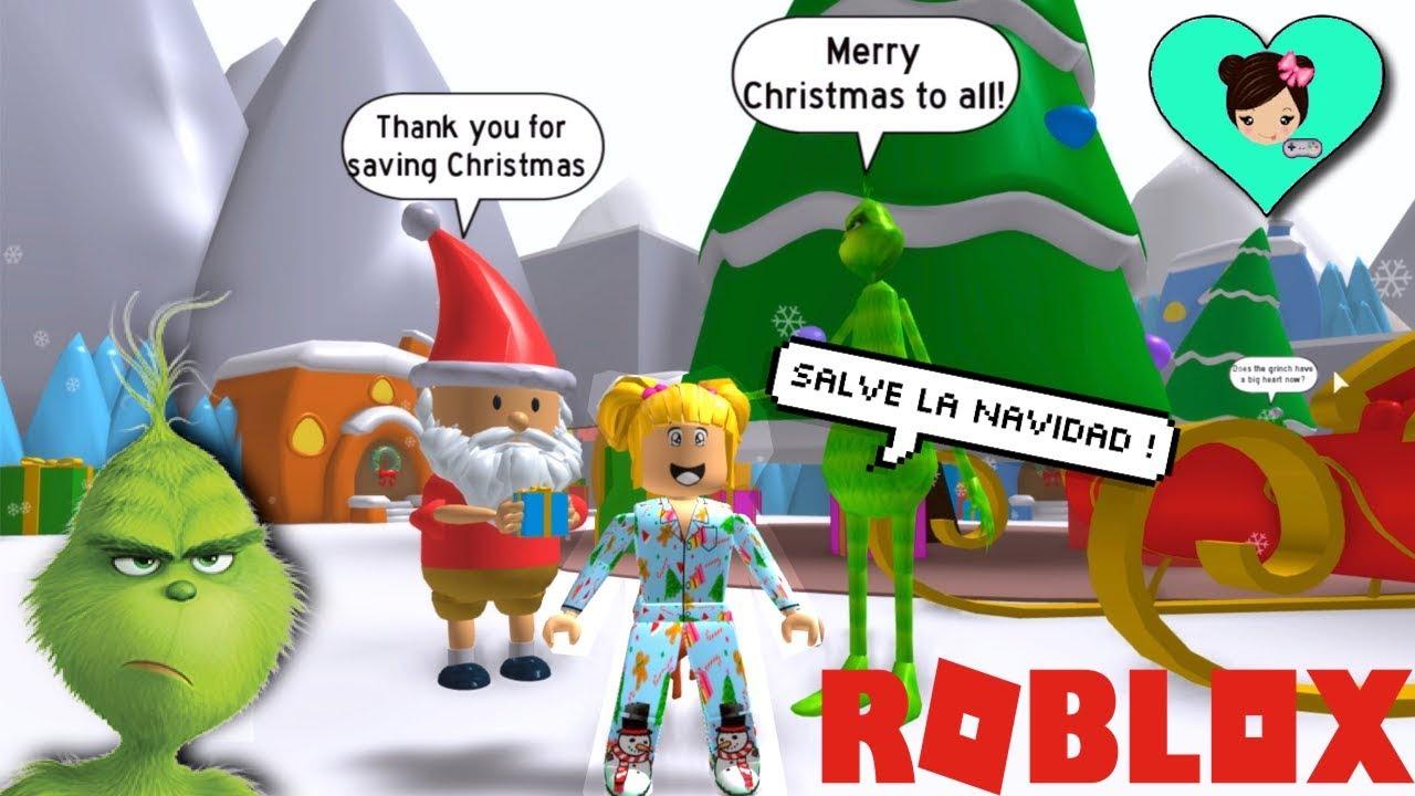 Bebe Goldie Salva La Navidad En Roblox Escapa El Grinch Obby Titi Juegos