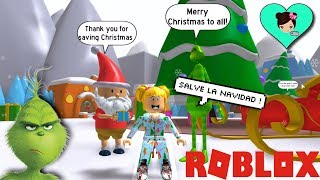 baby Goldie saves Christmas in Roblox - escapes the Grinch Obby - Titi games